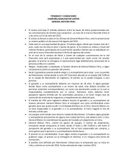 TERMINOS Y CONDICIONES CAMPAÑA MANCHESTER UNITED