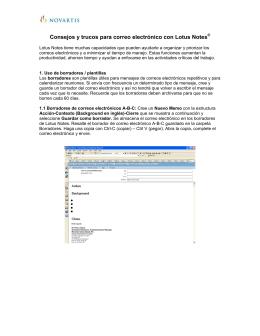 Consejos y trucos para correo electrónico con Lotus Notes