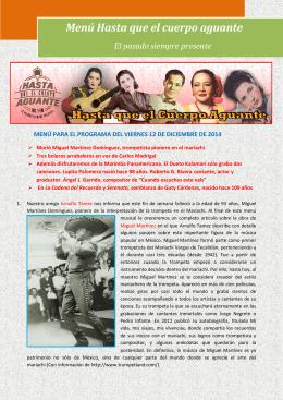 Descargue el PDF completo del programa del 12 de diciembre 2014