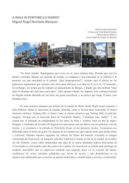 A walk in Portobello Market - Vicerrectorado de Cultura y Extensión