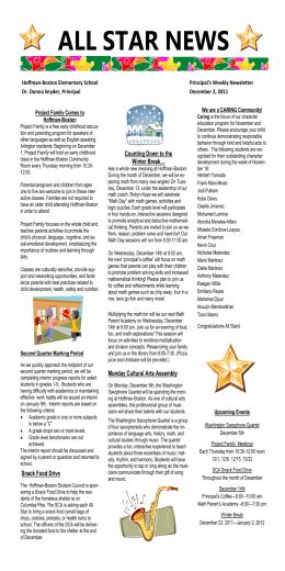 NEWSLETTER- December 1 2011