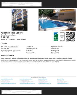 Appartement à vendre € 99.200 - Homes