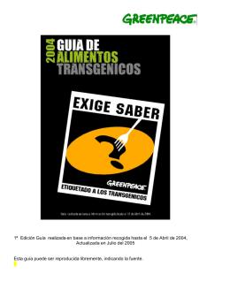 GUIA ALIMENTOS TRANSGENICOS