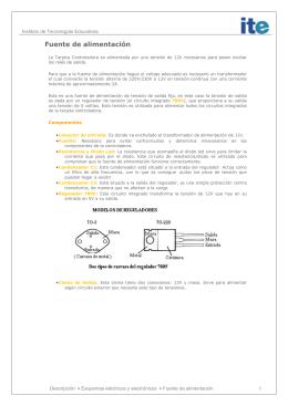 Descripción del circuito de control