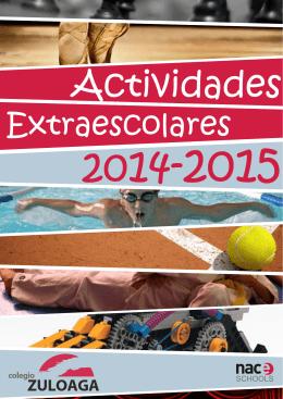 Zuloaga EXTRAESCOLARES 14-15.cdr