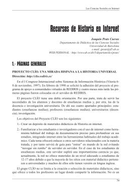 7. Recursos de Historia en Internet.