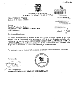 Proyecto de Reforma al Artículo 19 de la Ley Notarial Tr. 171627