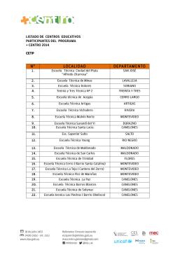 Listado de Centros 2014