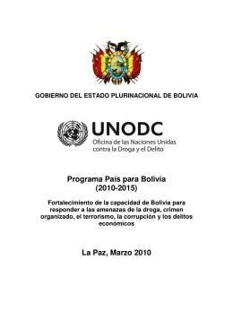 Programa País para Bolivia (2010