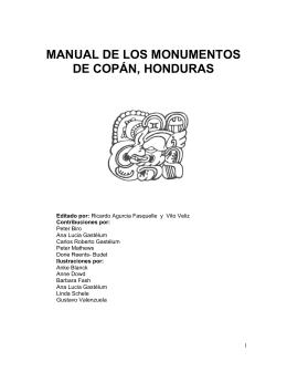Manual de los Monumentos de Copán, Honduras