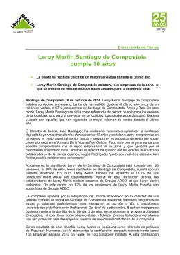 NP Aniversario Leroy Merlin Santiago