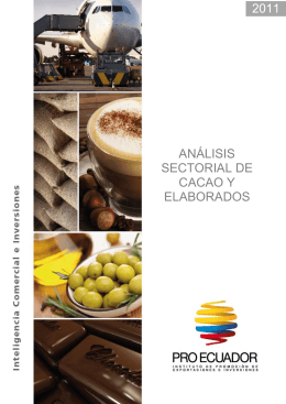 ANÁLISIS SECTORIAL DE CACAO