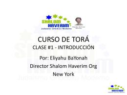 CURSO DE TORÁ - Shalom Haverim Org