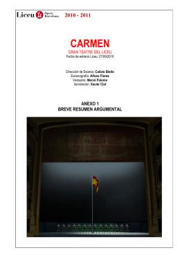 CARMEN - Gran Teatre del Liceu