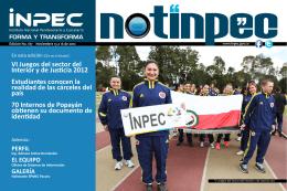 Notinpec No. 187 - Noviembre 13 a 16 de 2012