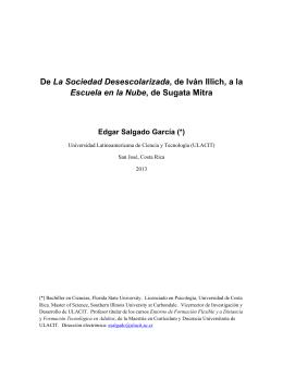 De La Sociedad Desescolarizada, de Iván Illich, a la Escuela