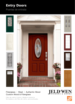 Entry Doors - JELD-WEN Home Depot Products