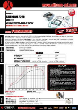 cylinder kit big bore suzuki rm-z 250 2010-2011