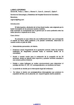 e-AGO 9 LABIO LEPORINO - e-Archivos de Ginecología y Obstetricia