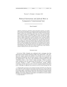 Political Institutions and Judicial Role in Comparative Constitutional