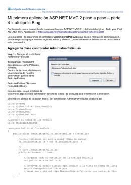 Mi primera aplicación ASP.NET MVC 2 paso a paso