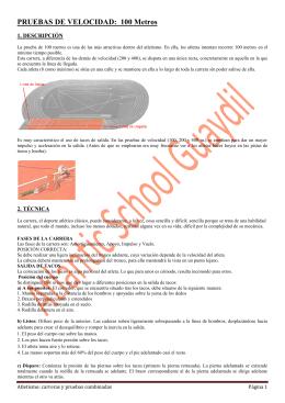 1BAC. Atletismo. Carreras y pruebas combinadas