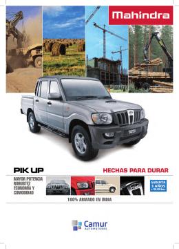 Descargue aquí el catálogo de Mahindra Pik Up Cabina Doble