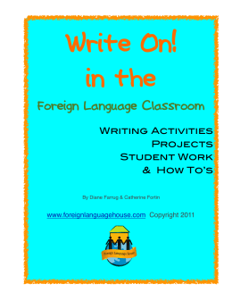 Write On!7-22 - Foreign Language House