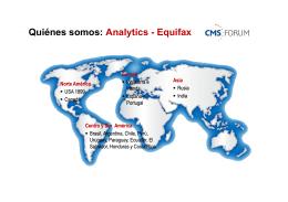 Quiénes somos: Analytics Equifax Quiénes somos: Analytics