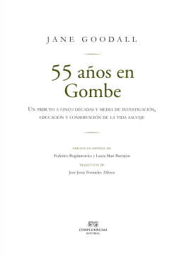 55 años en Gombe - Instituto Jane Goodall