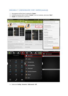 DESCARGA Y CONFIGURACIÓN VOIP: ZOIPER (Android)