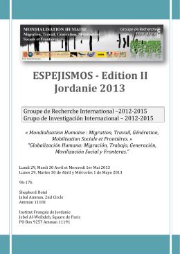 ESPEJISMOS - Edition II Jordanie 2013