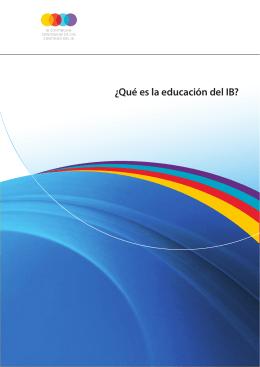 Qué es la educación del IB?