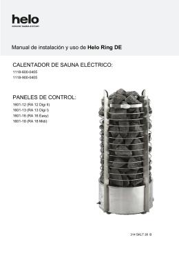 CALENTADOR DE SAUNA ELÉCTRICO