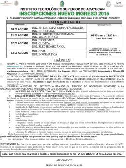 INSTITUTO TECNOLÓGICO SUPERIOR DE ACAYUCAN TRÁMITES