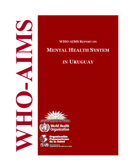 WHO-AIMS Report on Mental Health System in Uruguay