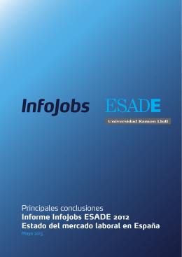 Principales conclusiones Informe InfoJobs ESADE 2012
