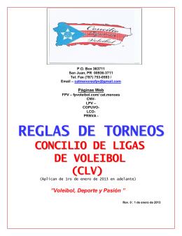 REGLAS DE TORNEOS - Federación Puertorriqueña de Voleibol