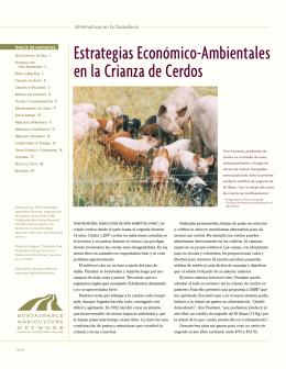 Estrategias Económico-Ambientales en la Crianza de Cerdos