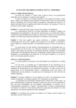 ETAPAS DESARROLLO MORAL KOHLBERG
