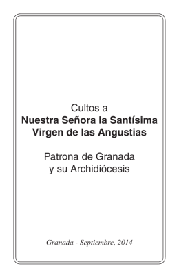 LIBRO de CULTOS - Basilica de las Angustias de Granada