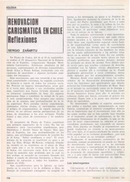 RENOVACIÓN CARISMATICA EN CHILE