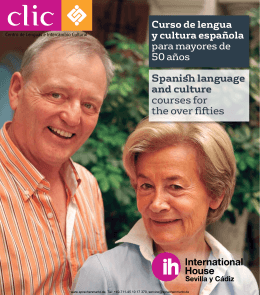 Spanish language and culture courses for the over fifties