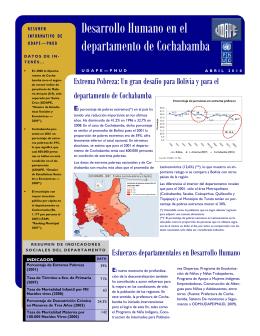 Desarrollo Humano en el departamento de Cochabamba
