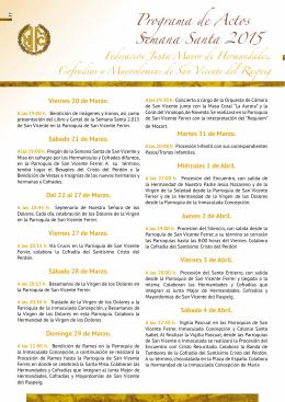 Programa de actos incluyendo el programa de las iglesias y mapa