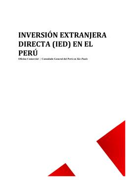 inversión extranjera directa (ied) en el perú