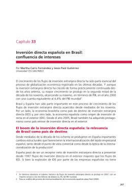 Inversión directa española en Brasil: confluencia de intereses