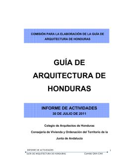 GUÍA DE ARQUITECTURA DE HONDURAS