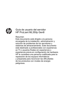 Guía de usuario del servidor HP ProLiant ML350p Gen8