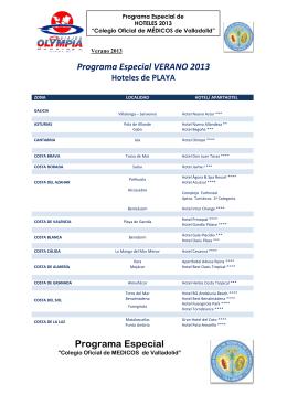 Programa Especial - Colegio de Médicos de Valladolid